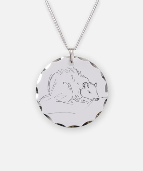 Sketch Rat Necklace