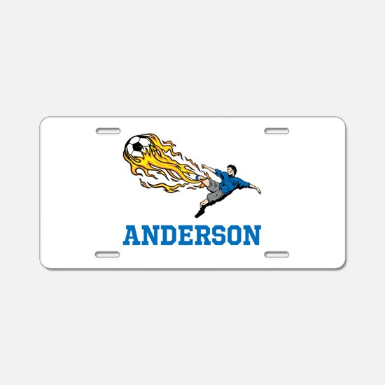 Personalized Soccer Aluminum License Plate