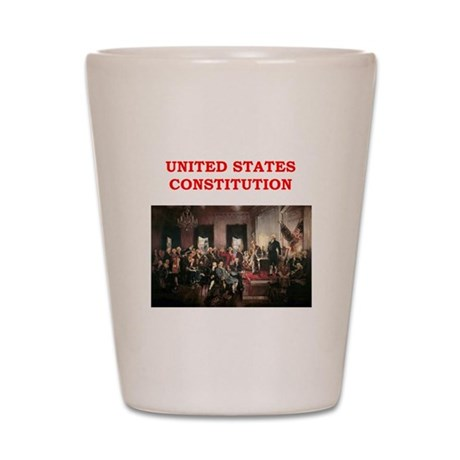 united states constitution Shot Glass