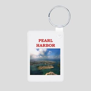 pearl harbor Aluminum Photo Keychain