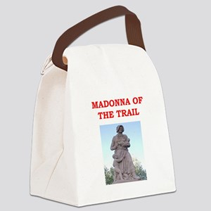 madonna of the trail Canvas Lunch Bag