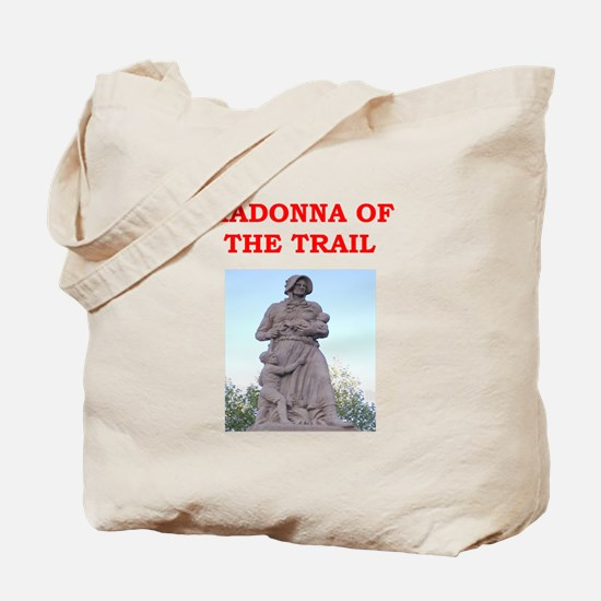 madonna of the trail Tote Bag