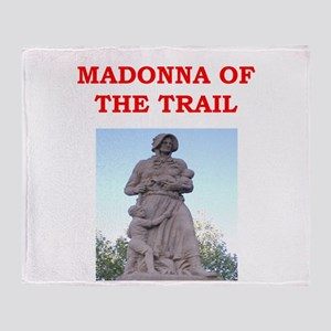 madonna of the trail Throw Blanket
