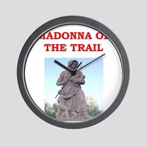 madonna of the trail Wall Clock
