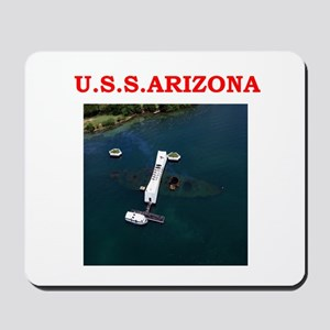 uss arizona Mousepad