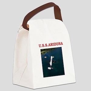 uss arizona Canvas Lunch Bag