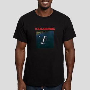 uss arizona Men's Fitted T-Shirt (dark)