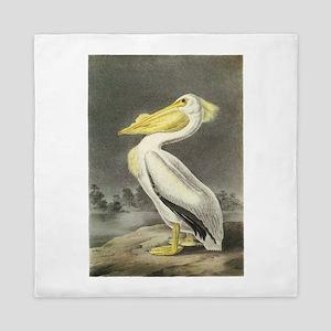 American White Pelican Queen Duvet