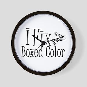 I Fix Boxed Color Wall Clock