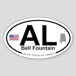 Bell Fountain Sticker (Oval)