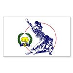 Soo Bahk Do Kick Figures Sticker (Rectangle 50 pk)