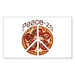 Peace-za Sticker (Rectangle 50 pk)