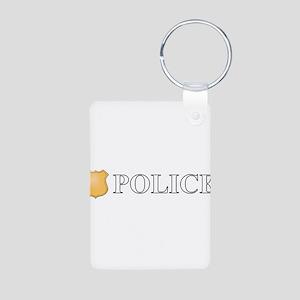 Police Aluminum Photo Keychain