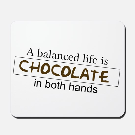Chocolate in both hands Mousepad