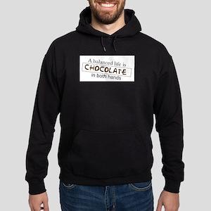 Chocolate in both hands Hoodie (dark)