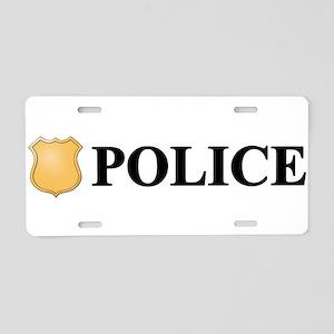 Police B Aluminum License Plate
