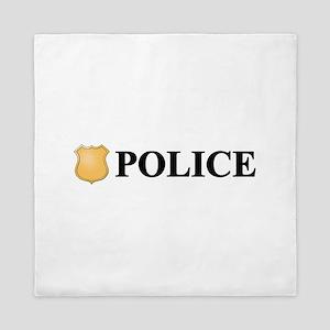 Police B Queen Duvet