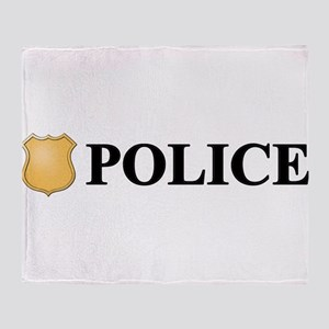 Police B Throw Blanket