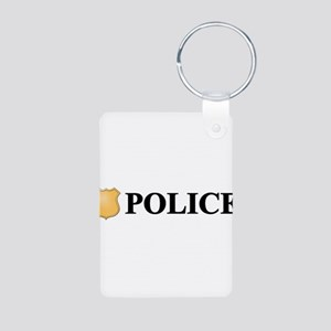 Police B Aluminum Photo Keychain