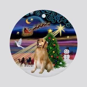 Xmas Magic & Golden (2) Ornament (Round)