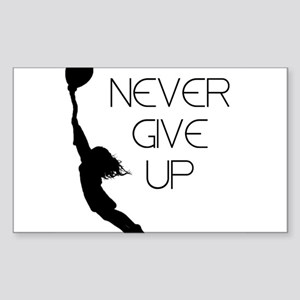 Never Give up Sticker (Rectangle)