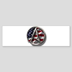 American Atheist Logo Sticker (Bumper)