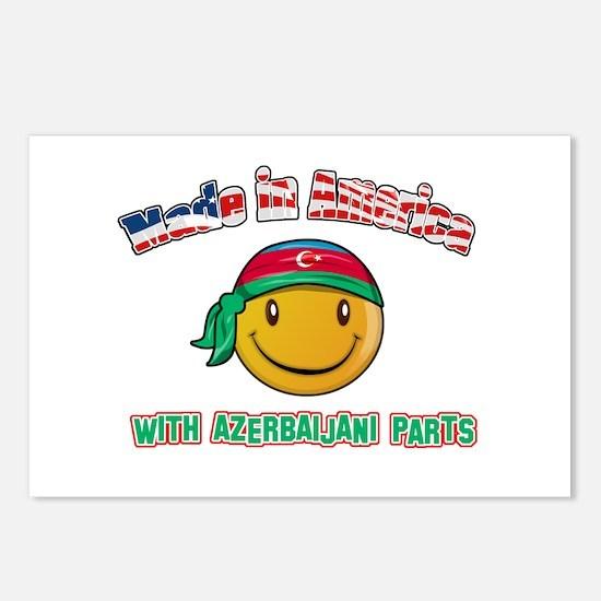 Azerbaijani Smiley Designs Postcards (Package of 8