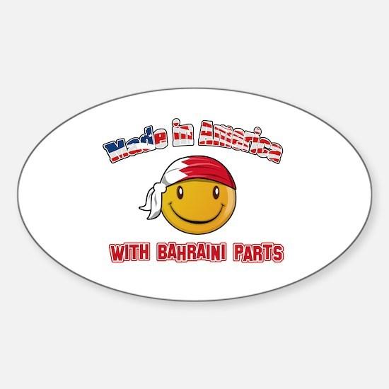 Bahrain Smiley Designs Sticker (Oval)