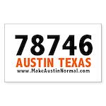 makeaustinnormal-78746-x Sticker (Rectangle 50 pk)