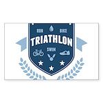 Triathlon Sticker (Rectangle 50 pk)