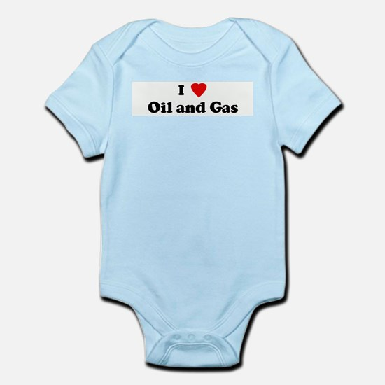 I Love Oil and Gas Infant Creeper