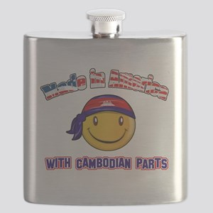 Cambodian Smiley Designs Flask