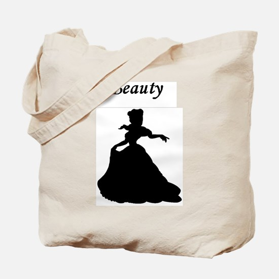 beauty and beast bear center Tote Bag