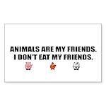 animals are my friends - Sticker (Rectangle 50 pk)