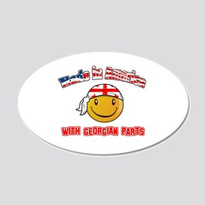 Georgian Smiley Designs 20x12 Oval Wall Decal