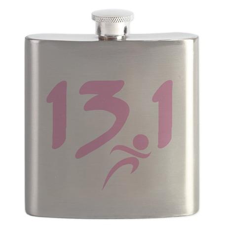Pink 13.1 half-marathon Flask