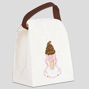 Ice Cream Dream - Chocolate Canvas Lunch Bag