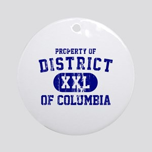 Property of District Of Columbia Ornament (Round)