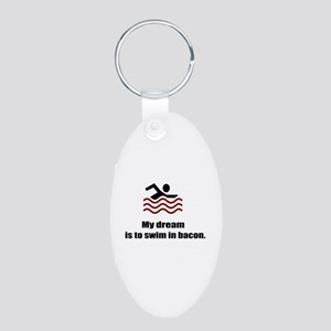 My Dream Aluminum Oval Keychain