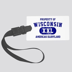 Property of Wisconsin Large Luggage Tag