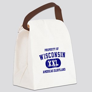 Property of Wisconsin Canvas Lunch Bag