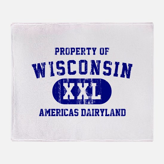 Property of Wisconsin Throw Blanket
