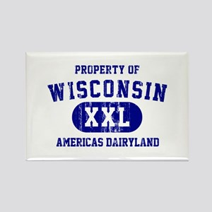 Property of Wisconsin Rectangle Magnet