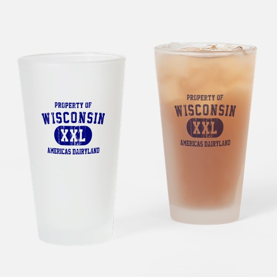 Property of Wisconsin Drinking Glass