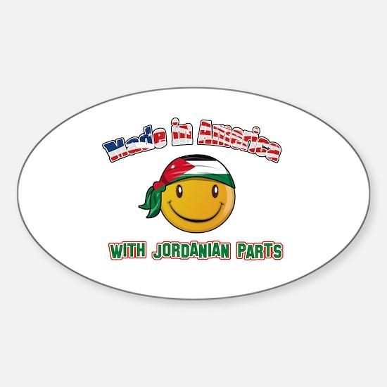 Jordanian Smiley Designs Sticker (Oval)