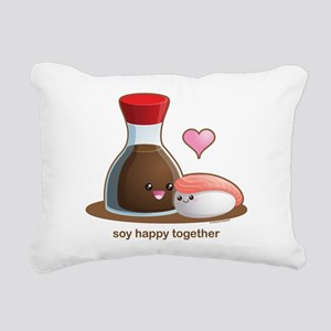Soy happy together Rectangular Canvas Pillow