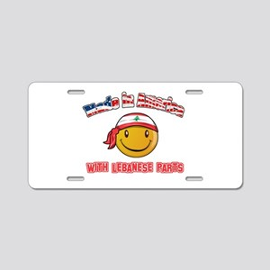 Lebanese Smiley Designs Aluminum License Plate