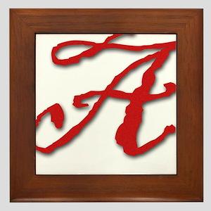Red Letter A Framed Tile