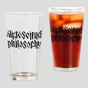 Art Science is Philosophy Drinking Glass