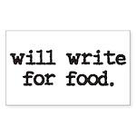 writeforfood3 Sticker (Rectangle 50 pk)